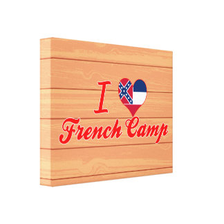 I Love French Camp, Mississippi Stretched Canvas Prints