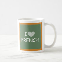 I Love French Coffee Mug