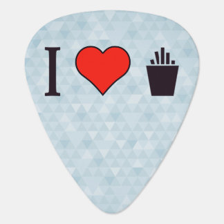 I Love French Fries Guitar Pick