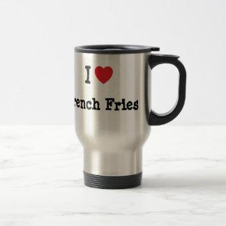 I love French Fries heart T-Shirt Coffee Mug