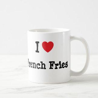 I love French Fries heart T-Shirt Mug