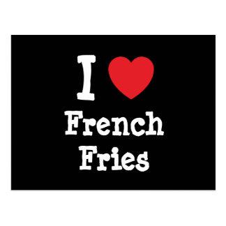 I love French Fries heart T-Shirt Postcard