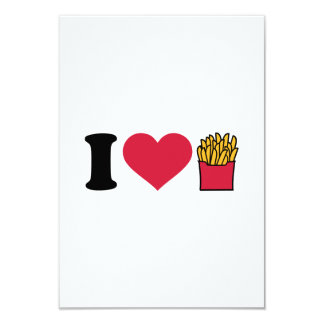 I love french fries personalized invites