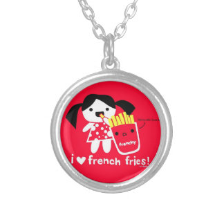 I LOVE FRENCH FRIES NECKLACE