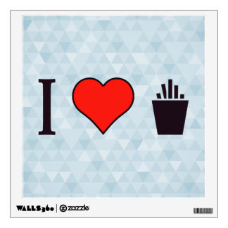 I Love French Fries Wall Sticker