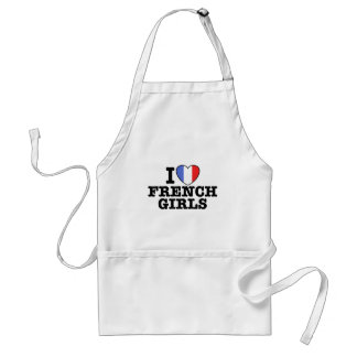 I Love French Girls Aprons