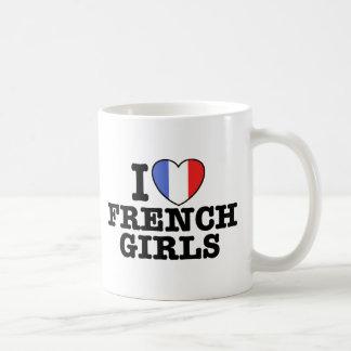 I Love French Girls Mugs