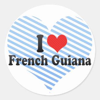 I Love French Guiana Classic Round Sticker