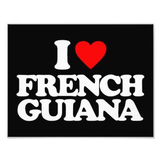 I LOVE FRENCH GUIANA PHOTO ART