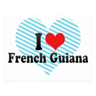 I Love French Guiana Postcard