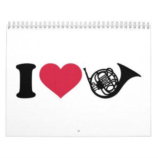 I love french horn calendar