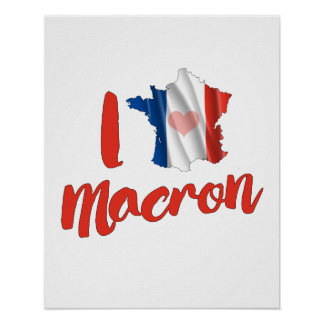 I Love French Macron - Poster