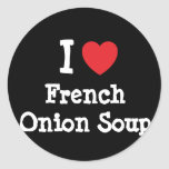 I love French Onion Soup heart T-Shirt Stickers