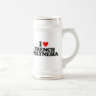 I LOVE FRENCH POLYNESIA COFFEE MUGS