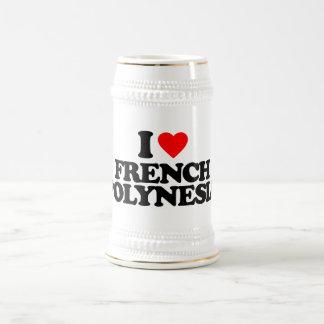 I LOVE FRENCH POLYNESIA MUGS