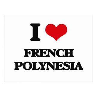 I Love French Polynesia Postcards