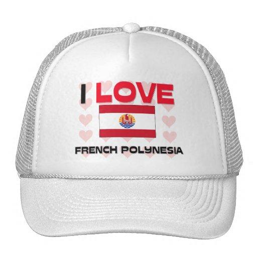 I Love French Polynesia Trucker Hat