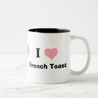 I Love French Toast Two-Tone Coffee Mug