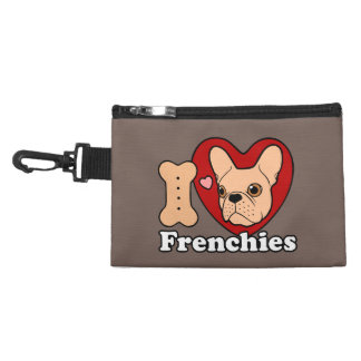 I Love Frenchies design for all Frenchie Lovers Accessory Bag