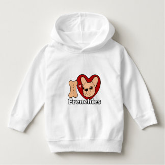 I Love Frenchies design for all Frenchie Lovers Hoodie