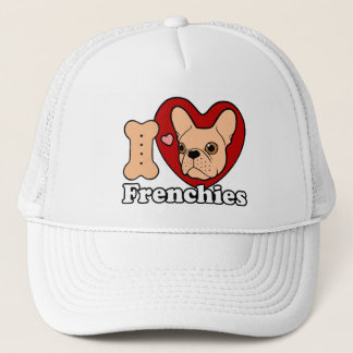 I Love Frenchies design for all Frenchie Lovers Trucker Hat