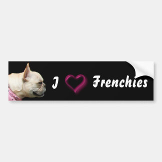 I Love Frenchies French bulldog bumper sticker Car Bumper Sticker