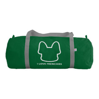 I Love Frenchies Logo Design Duffle Bag