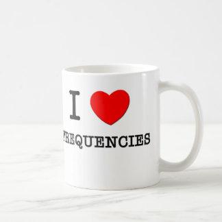 I Love Frequencies Coffee Mugs