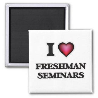 I Love Freshman Seminars 2 Inch Square Magnet
