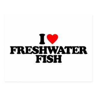 I LOVE FRESHWATER FISH POSTCARDS