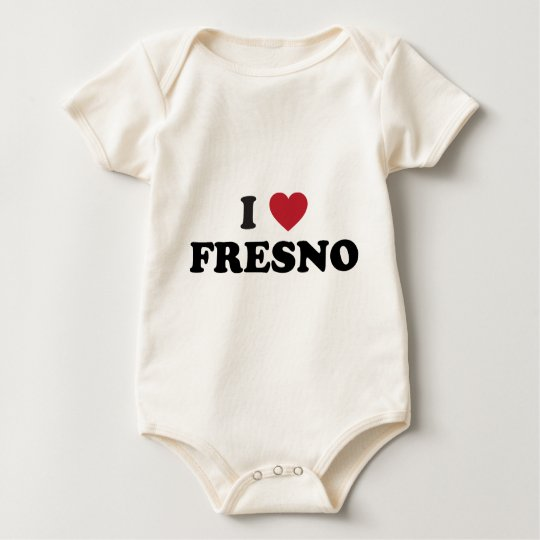 I Love Fresno California Baby Bodysuit