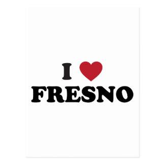 I Love Fresno California Postcard
