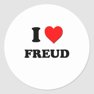 I Love Freud Classic Round Sticker