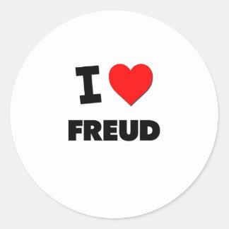 I Love Freud Round Stickers