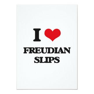 I love Freudian Slips 5x7 Paper Invitation Card