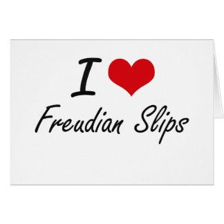 I love Freudian Slips Stationery Note Card