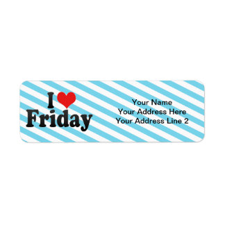 I Love Friday Label