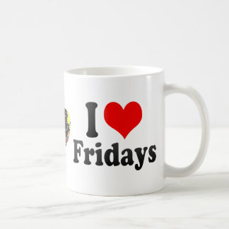 I Love Fridays Classic White Coffee Mug