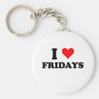 I Love Fridays Keychain