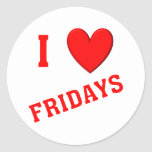 I Love Fridays Sticker