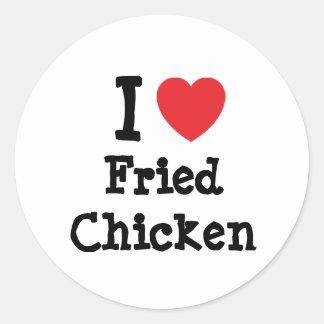 I love Fried Chicken heart T-Shirt Sticker