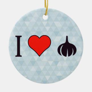 I Love Fried Onion Rings Ceramic Ornament