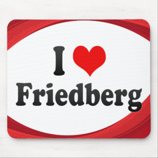 I Love Friedberg, Germany Mouse Pad