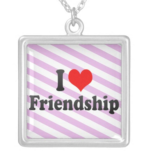 I love Friendship Custom Necklace