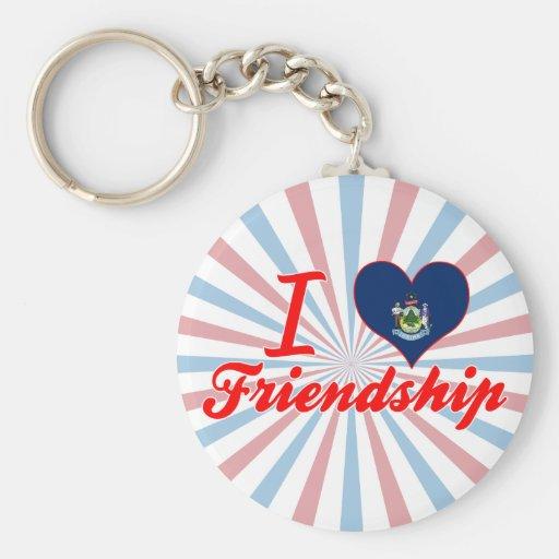 I Love Friendship, Maine Key Chain