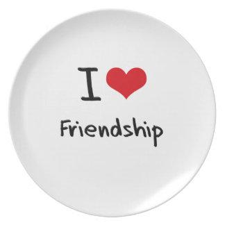 I Love Friendship Dinner Plates