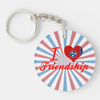 I Love Friendship, Tennessee Single-Sided Round Acrylic Keychain