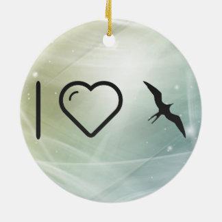 I Love Frigatebirds Double-Sided Ceramic Round Christmas Ornament
