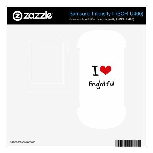 I Love Frightful Samsung Intensity Decals