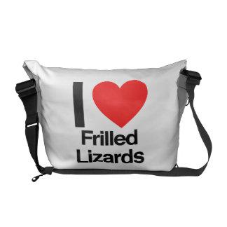 i love frilled lizards courier bag